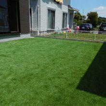 芝と砂利で雑草対策 NO.885の施工写真1