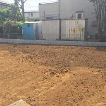 隣地境界ブロック NO.873の施工写真1
