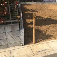 隣地境界ブロック NO.873の施工写真2