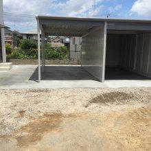 ヨド物置 ラヴイージュのガレージ NO.893の施工写真1