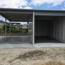 ヨド物置 ラヴイージュのガレージ NO.893の施工写真2