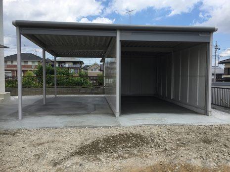 ヨド物置 ラヴイージュのガレージ NO.893の施工後写真1