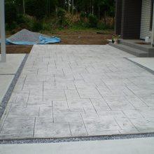 大きな敷地の駐車場 NO.906の施工写真1