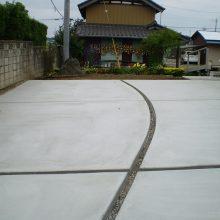 大きな敷地の駐車場 NO.906の施工写真2