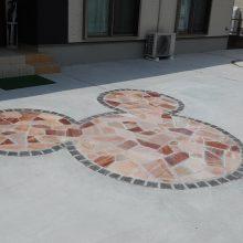 ディズニーキャラの石貼り施工 NO.927の施工写真