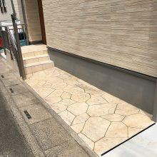 アプローチにスタンプコンクリート NO.973の施工写真2