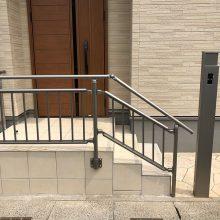 アプローチにスタンプコンクリート NO.973の施工写真1