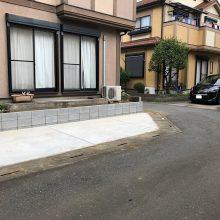 庭を駐車場にリフォーム NO.972の施工写真1
