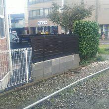 ブロック・目隠しフェンス工事 NO.983の施工写真1