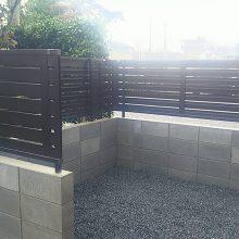 ブロック・目隠しフェンス工事 NO.983の施工写真3