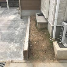 植栽と芝を撤去し土間打ち NO.974の施工写真2