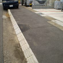 境界切り下げ工事 NO.971の施工写真2