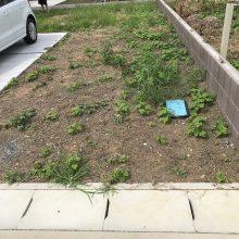 雑草対策に6号砕石 NO.986の施工写真1