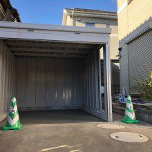 バイクガレージ工事 NO.1004の施工写真1
