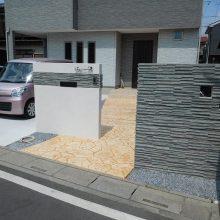 スタンプコンクリートのアプローチ NO.1027の施工写真