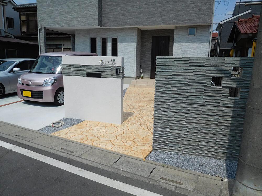 スタンプコンクリートのアプローチ NO.1027