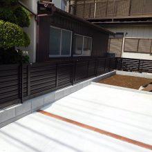 スタンプコンクリートのアプローチ NO.1027の施工写真2