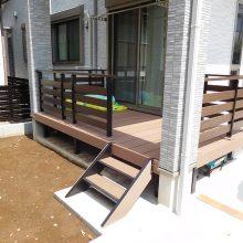 スタンプコンクリートのアプローチ NO.1027の施工写真1