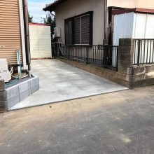 お庭を駐車場に変更 NO.1016の施工写真