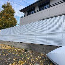 目隠しフェンスをリニューアル NO.1018の施工写真0