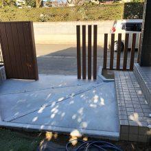 門まわりを木目に NO.1041の施工写真3