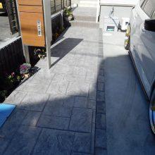 ガレージと駐車場工事  NO.1043の施工写真3