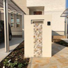 門柱はタイルでアクセントを NO.1033の施工写真1