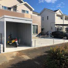 車庫には大切なバイクを NO.1031の施工写真