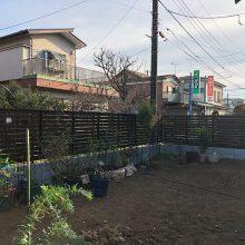 フェンスとブロックでセミクローズ NO.1035の施工写真0