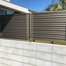 フェンスとブロックで境界工事 NO.1059の施工写真