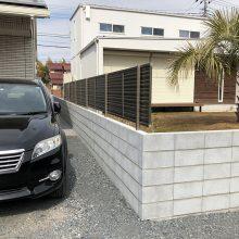 フェンスとブロックで境界工事 NO.1059の施工写真1