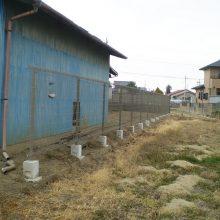 隣地境界に塀を施行 NO.1053の施工写真1