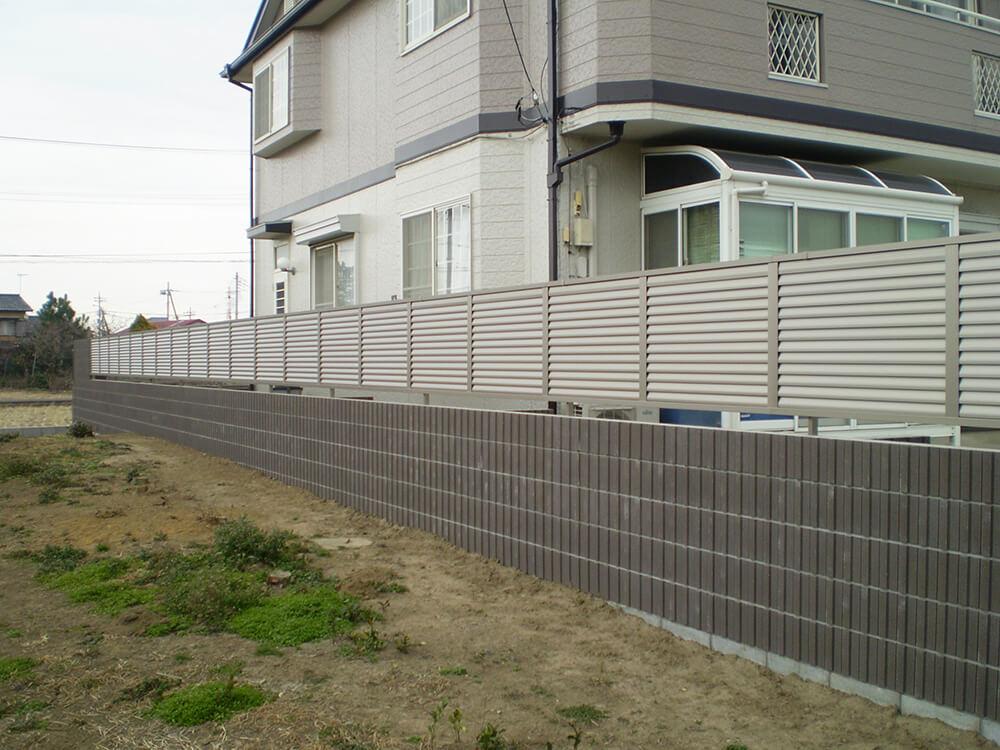 隣地境界に塀を施行 NO.1053