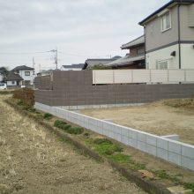 隣地境界に塀を施行 NO.1053の施工写真0