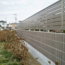 隣地境界に塀を施行 NO.1053の施工写真2
