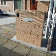 レンガ調の門柱 NO.1062の施工写真メイン