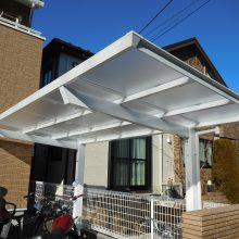 レンガ調の門柱 NO.1062の施工写真3