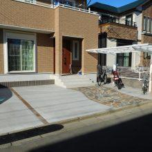 レンガ調の門柱 NO.1062の施工写真2