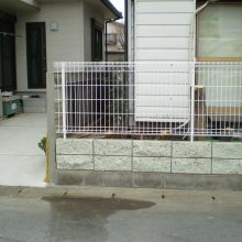 塀の修復工事 NO.1068の施工写真0