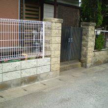 塀の修復工事 NO.1068の施工写真3