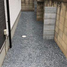 境界ブロックの控え壁 NO.1066の施工写真3
