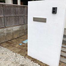 門扉はシンプルに NO.1075の施工写真