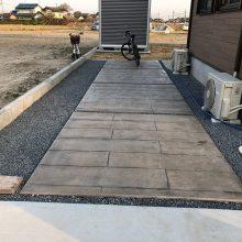 バイクガレージを設置 NO.1073の施工写真2