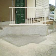 門柱を壊して駐車場拡大へ NO.1076の施工写真メイン
