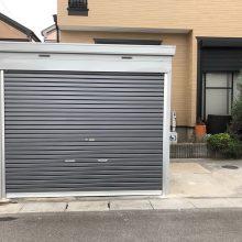 バイクガレージはイナバ製品 NO.1100の施工写真3