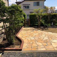 お庭を石貼りでリフォーム NO.1093の施工写真メイン
