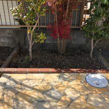 お庭を石貼りでリフォーム NO.1093の施工写真2