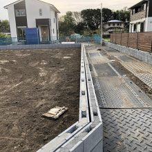 境界フェンスをブロックで NO.1091の施工写真2