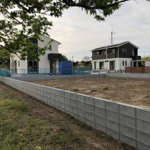 境界フェンスをブロックで NO.1091の施工写真3
