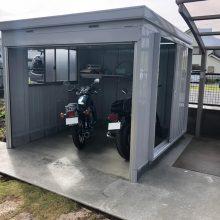バイクガレージで愛車を格納  NO.1095の施工写真2